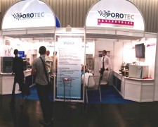14.10.01 - Powtech exhibit with Sylvain and Porotec our German rep in Nüremberg