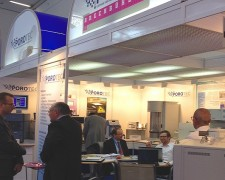 16.05.11 - At Analytica in München with our German rep Porotec